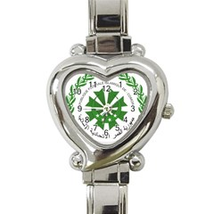 National Seal of the Comoros Heart Italian Charm Watch
