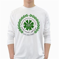 National Seal of the Comoros White Long Sleeve T-Shirts