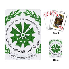 National Seal of the Comoros Playing Card