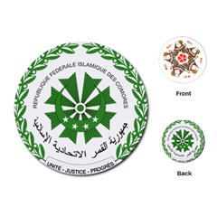 National Seal of the Comoros Playing Cards (Round)