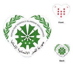 National Seal of the Comoros Playing Cards (Heart)