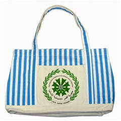 National Seal of the Comoros Striped Blue Tote Bag