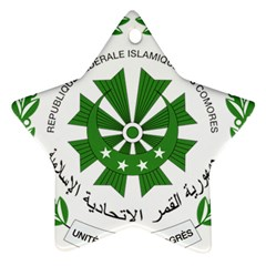 National Seal of the Comoros Star Ornament (Two Sides)