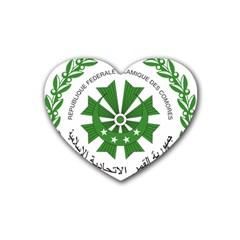 National Seal of the Comoros Heart Coaster (4 pack)