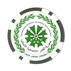 National Seal of the Comoros Poker Chip Card Guards