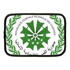 National Seal of the Comoros Netbook Case (Medium)