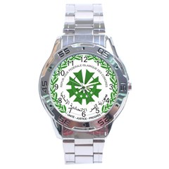 National Seal of the Comoros Stainless Steel Analogue Watch