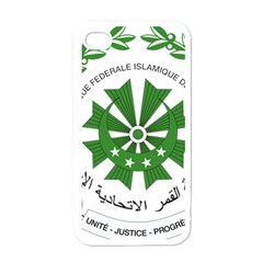National Seal of the Comoros Apple iPhone 4 Case (White)