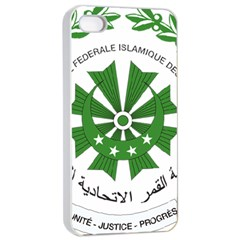 National Seal of the Comoros Apple iPhone 4/4s Seamless Case (White)