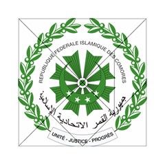 National Seal of the Comoros Acrylic Tangram Puzzle (6  x 6 )