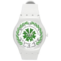 National Seal of the Comoros Round Plastic Sport Watch (M)