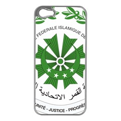 National Seal of the Comoros Apple iPhone 5 Case (Silver)