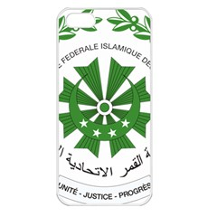 National Seal of the Comoros Apple iPhone 5 Seamless Case (White)