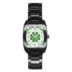 National Seal of the Comoros Stainless Steel Barrel Watch