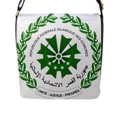 National Seal of the Comoros Flap Messenger Bag (L)