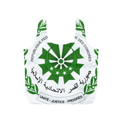 National Seal of the Comoros Full Print Recycle Bags (S)
