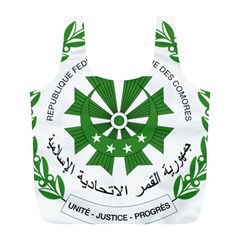 National Seal of the Comoros Full Print Recycle Bags (L)