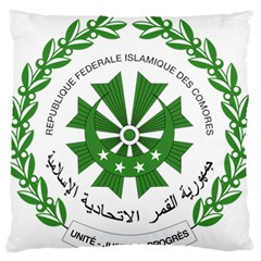 National Seal of the Comoros Large Flano Cushion Case (Two Sides)