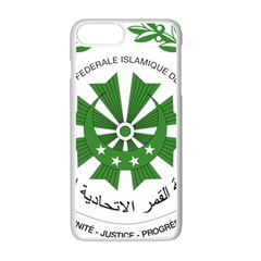 National Seal of the Comoros Apple iPhone 7 Plus White Seamless Case