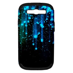 Abstract Stars Falling  Samsung Galaxy S III Hardshell Case (PC+Silicone)