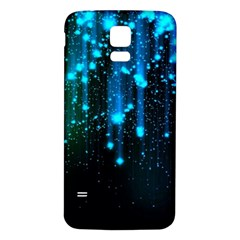 Abstract Stars Falling  Samsung Galaxy S5 Back Case (White)