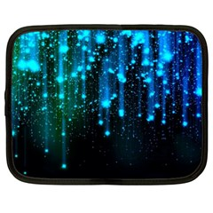 Abstract Stars Falling  Netbook Case (XL)