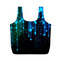 Abstract Stars Falling  Full Print Recycle Bags (M)