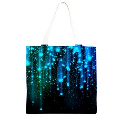 Abstract Stars Falling  Grocery Light Tote Bag