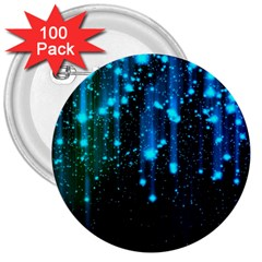 Abstract Stars Falling 3  Buttons (100 pack)