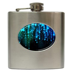 Abstract Stars Falling Hip Flask (6 oz)