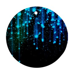 Abstract Stars Falling Round Ornament (Two Sides)