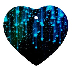 Abstract Stars Falling Heart Ornament (2 Sides)