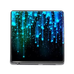 Abstract Stars Falling Memory Card Reader (Square)
