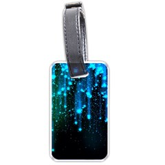 Abstract Stars Falling Luggage Tags (Two Sides)