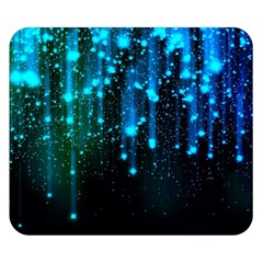 Abstract Stars Falling Double Sided Flano Blanket (Small)