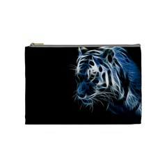 Ghost Tiger  Cosmetic Bag (Medium)