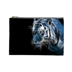 Ghost Tiger  Cosmetic Bag (Large)
