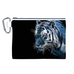 Ghost Tiger  Canvas Cosmetic Bag (L)