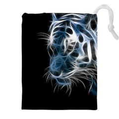 Ghost Tiger  Drawstring Pouches (XXL)