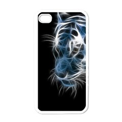 Ghost tiger Apple iPhone 4 Case (White)