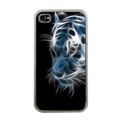 Ghost tiger Apple iPhone 4 Case (Clear)