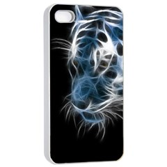 Ghost tiger Apple iPhone 4/4s Seamless Case (White)