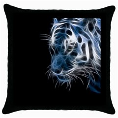 Ghost tiger Throw Pillow Case (Black)