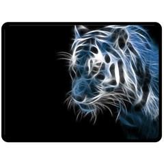 Ghost tiger Fleece Blanket (Large)