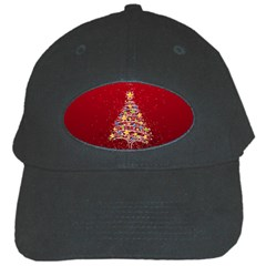 Colorful Christmas Tree Black Cap