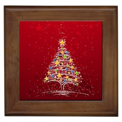 Colorful Christmas Tree Framed Tiles