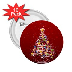 Colorful Christmas Tree 2.25  Buttons (10 pack)