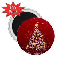 Colorful Christmas Tree 2.25  Magnets (100 pack)