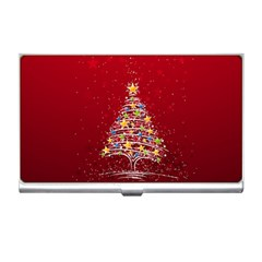 Colorful Christmas Tree Business Card Holders