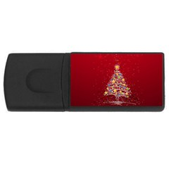 Colorful Christmas Tree USB Flash Drive Rectangular (4 GB)